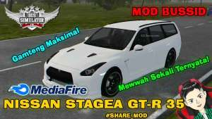 Download Nissan Stagea GTR R35 Car Mod BUSSID, Nissan Stagea GTR R35, BUSSID Car Mod, BUSSID Vehicle Mod, MAH Channel, Nissan, NISSAN GTR Mod