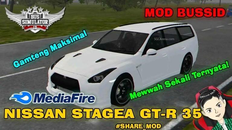 Nissan Stagea GTR R35 Car Mod BUSSID