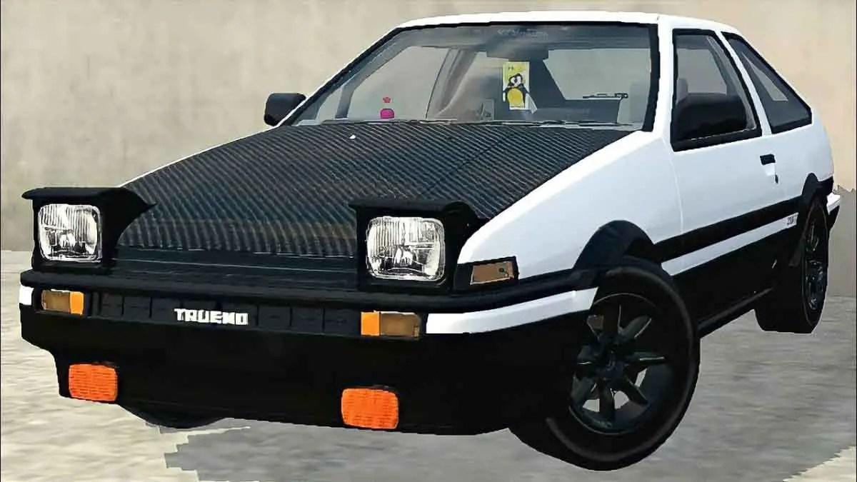 Download Toyota AE86 Initial Car Mod BUSISD, Toyota AE86 Initial Car Mod, BUSSID Car Mod, BUSSID Vehicle Mod, MAH Channel, Toyota