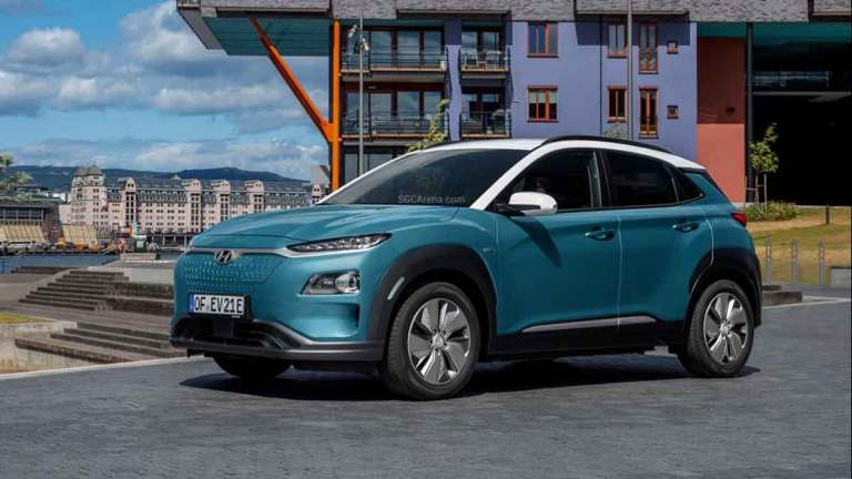 Hyundai Kona Electric Car Mod BUSSID