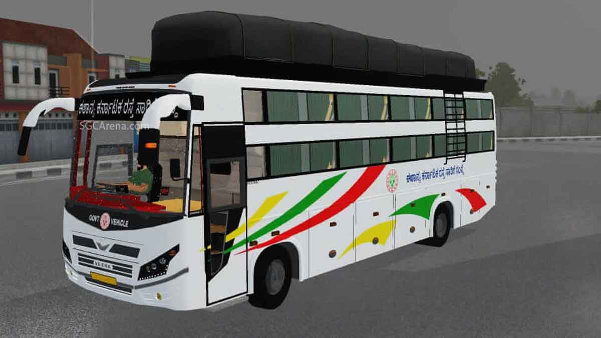 Download Veera V7 Non AC Sleeper Indian Bus Mod BUSSID, Veera V7 Non AC Sleeper Indian bus Mod, BUSSID Bus Mod, BUSSID Vehicle Mod, IBS Gaming, Indian Bus Mod BUSSID