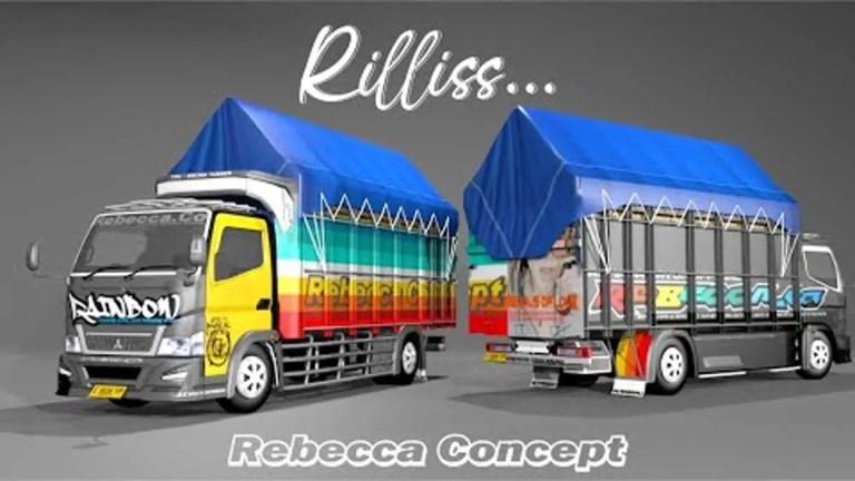 Rebecca Lapis Rainbow Truck Mod BUSSID