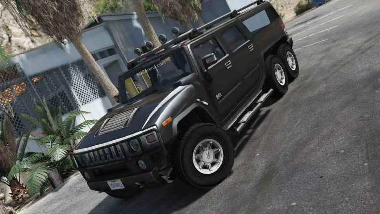 Hummer H2 6X6 Car Mod BUSSID