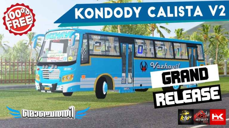 Kondody Calista NDX V2 Indian Bus Mod BUSSID