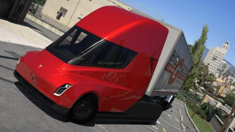 Tesla Semi Truck Mod BUSSID