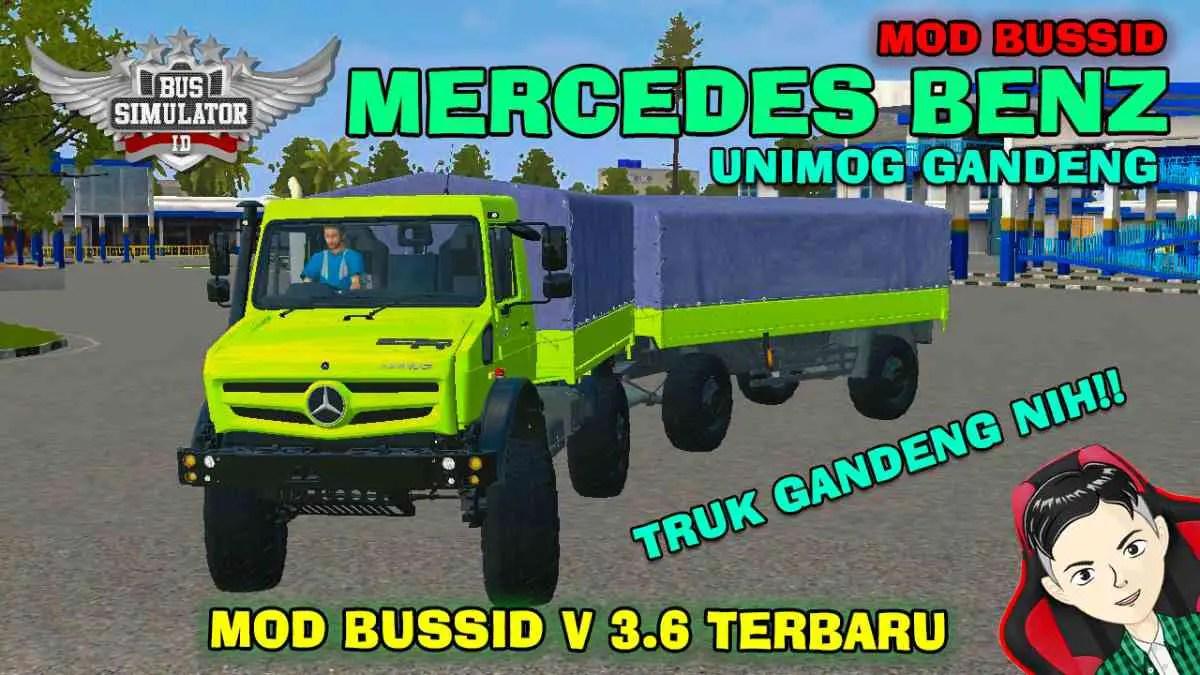Download Mercedes-Benz Unimog Gandeng Truck Mod BUSSID, Mercedes-Benz Unimog Gandeng, BUSSID Truck Mod, BUSSID Vehicle Mod, MAH Channel, Mercedes Benz
