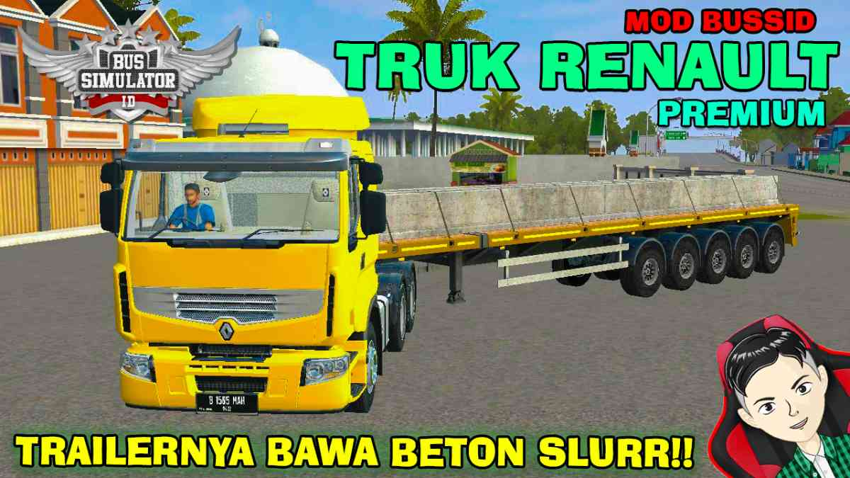 Download Renault Premium 6x4 Beton Truck Mod BUSSID, Renault Premium 6x4 Beton, BUSSID Truck Mod, BUSSID Vehicle Mod, MAH Channel, Renault