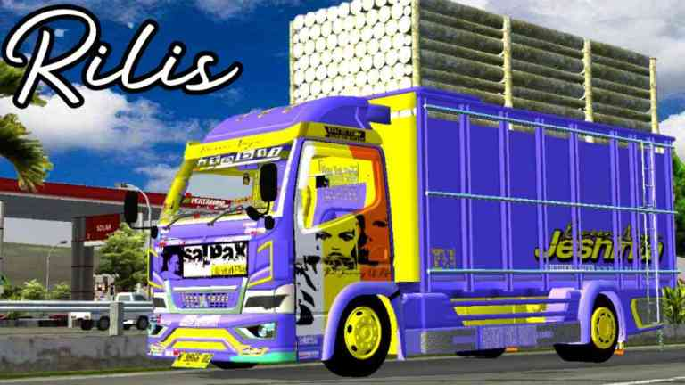 Canter Salpax Truck Mod for BUSSID