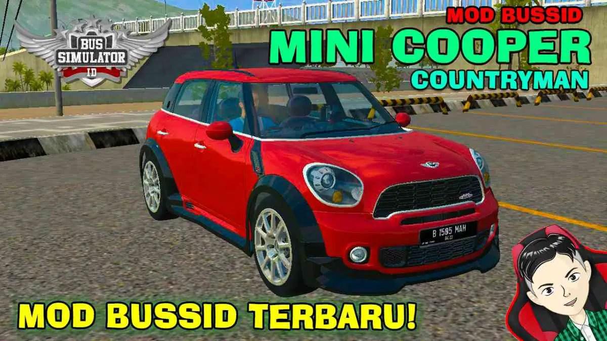 Download Mini Cooper Countryman Mod BUSSID, Mini Cooper Countryman, BUSSID Car Mod, BUSSID Vehicle Mod, MAH Channel, Mini Cooper