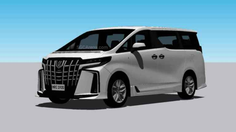 2019 Toyota Alphard Executive Lounge Mod BUSSID