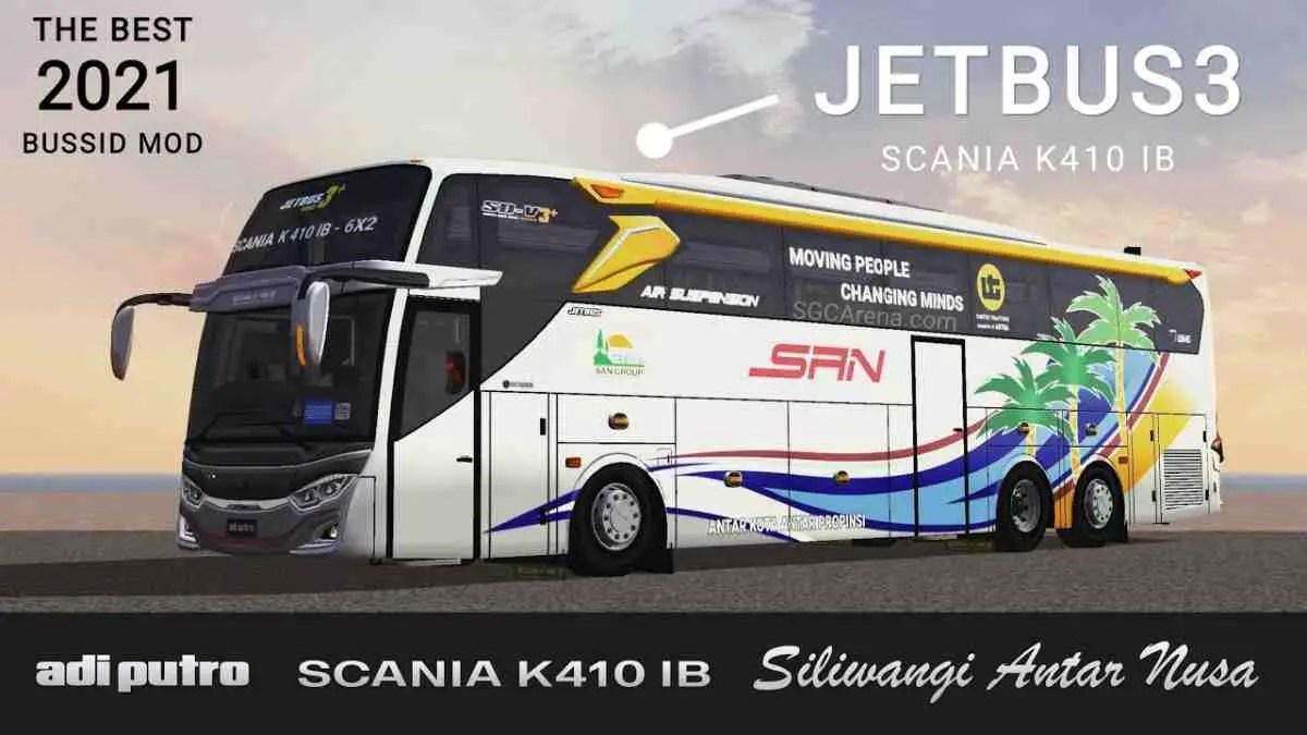 Download JetBus3 Scania K410 IB Bus Mod BUSSID, JetBus3 Scania K410 IB, BUSSID Bus Mod, BUSSID Vehicle Mod, Faridh Madyawan, JB3 Mod