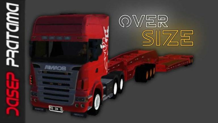 Scania R620 Oversize Trailer Mod BUSSID