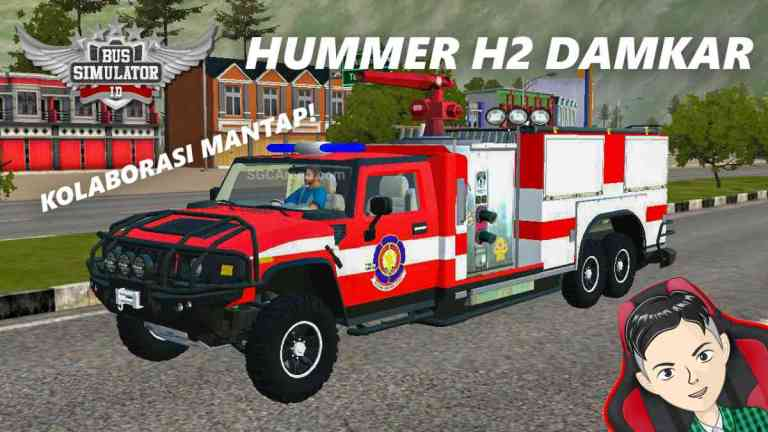 HUMMER H2 Firetruck Mod BUSSID