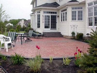 stamped concrete patios solid ground