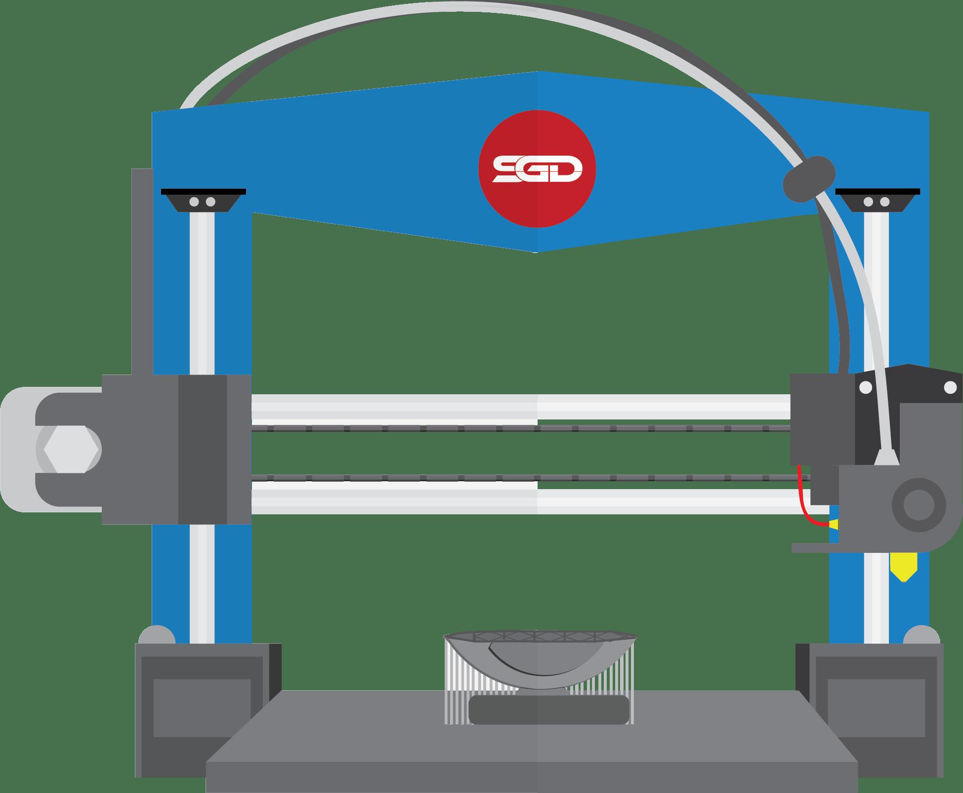 3D Printer Graphic - Capabilities