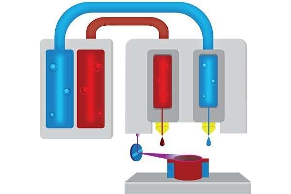 Material Jetting 3D Printing Diagram