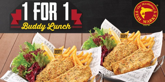 The Manhattan Fish Market 1-for-1 promotion