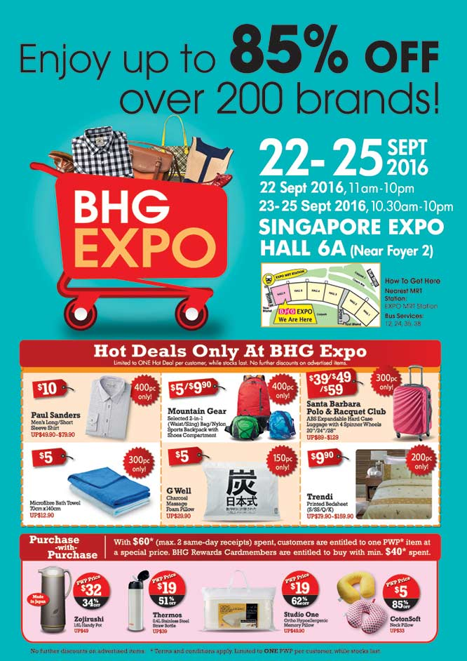Bhg singapore latest sales in 2017 sgd tips for Bhg shopping