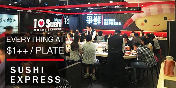 Sushi Express everything at $1++