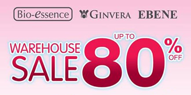 Bio-essence Ginvera Ebene Warehouse Sale Mar 2017