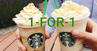 Starbucks 1-for-1 beverages, 20 to 24 Mar