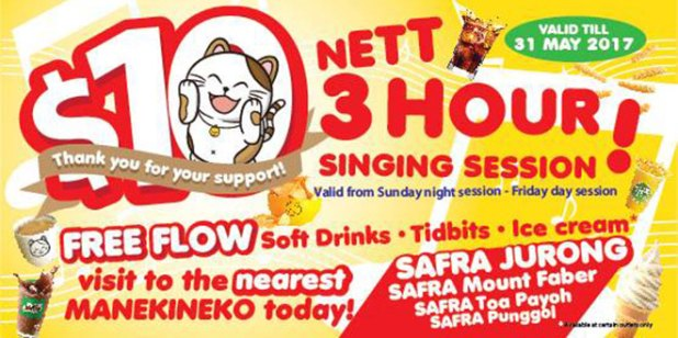 Karaoke-Manekineko-Singapore-10-dollar-3-hour-singing