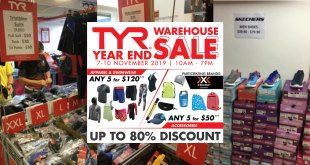 TYR Warehouse Sale 2019