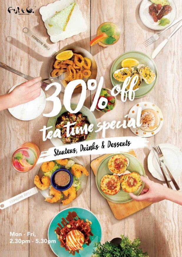 Fish & Co Tea Time Special: 30% OFF