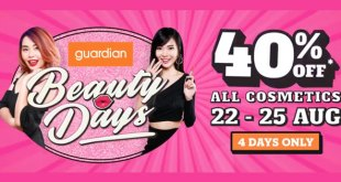 Beauty Days Sale at Guardian Singapore