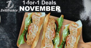 Delifrance November Deal: 1-for-1 Mayo Sandwich