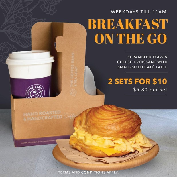 2 Sets Breakfast For $10