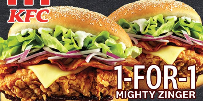 1-For-1 Mighty Zinger at KFC