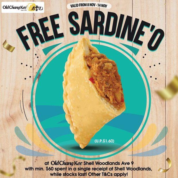 FREE Sardine'O at Old Chang Kee