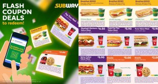 Subway coupon deals till 30 June 2020