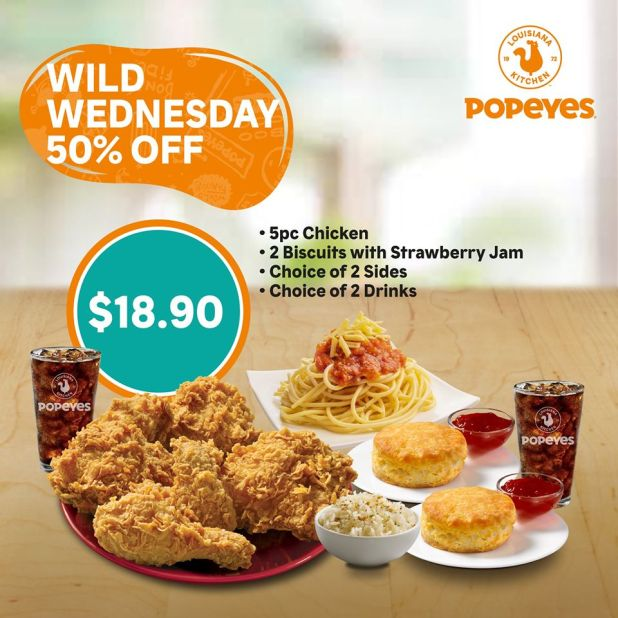 Popeyes Wednesday Deal on GrabFood