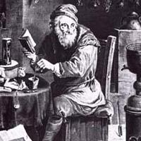 Alquimista trabalhando na Grande Obra