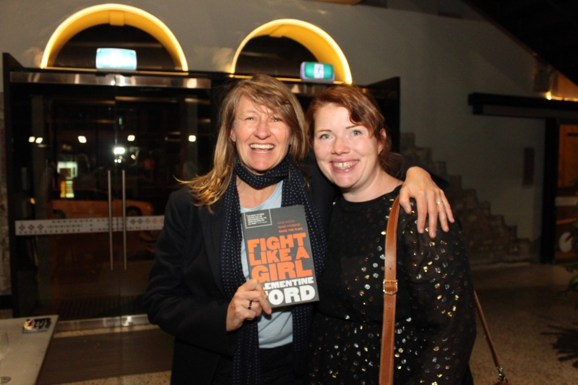 (L) Cath Pope, Vice President SGLBA (R) Clementine Ford, Author