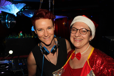 (L-R) Our resident DJ Amanda Louise & Wendy Pitt, past Head Lemon. Amanda has performed at the Sydney Mardi Gras, Gay Pride in NYC, Gay Pride in Berlin and many more LGBTI events around the world.