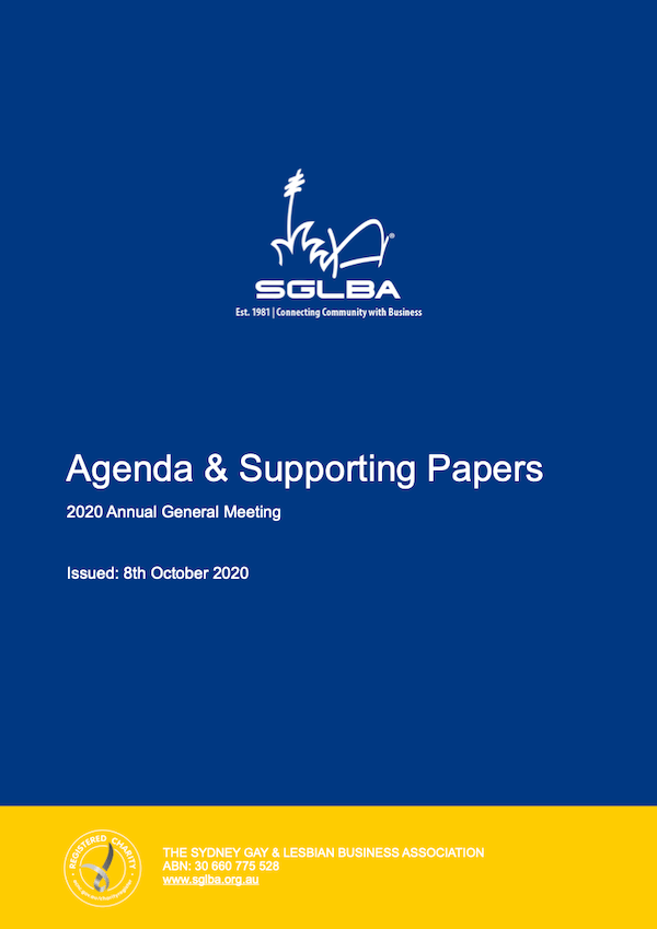 AGM 2020 Agenda and Supporting Papers 600pxl