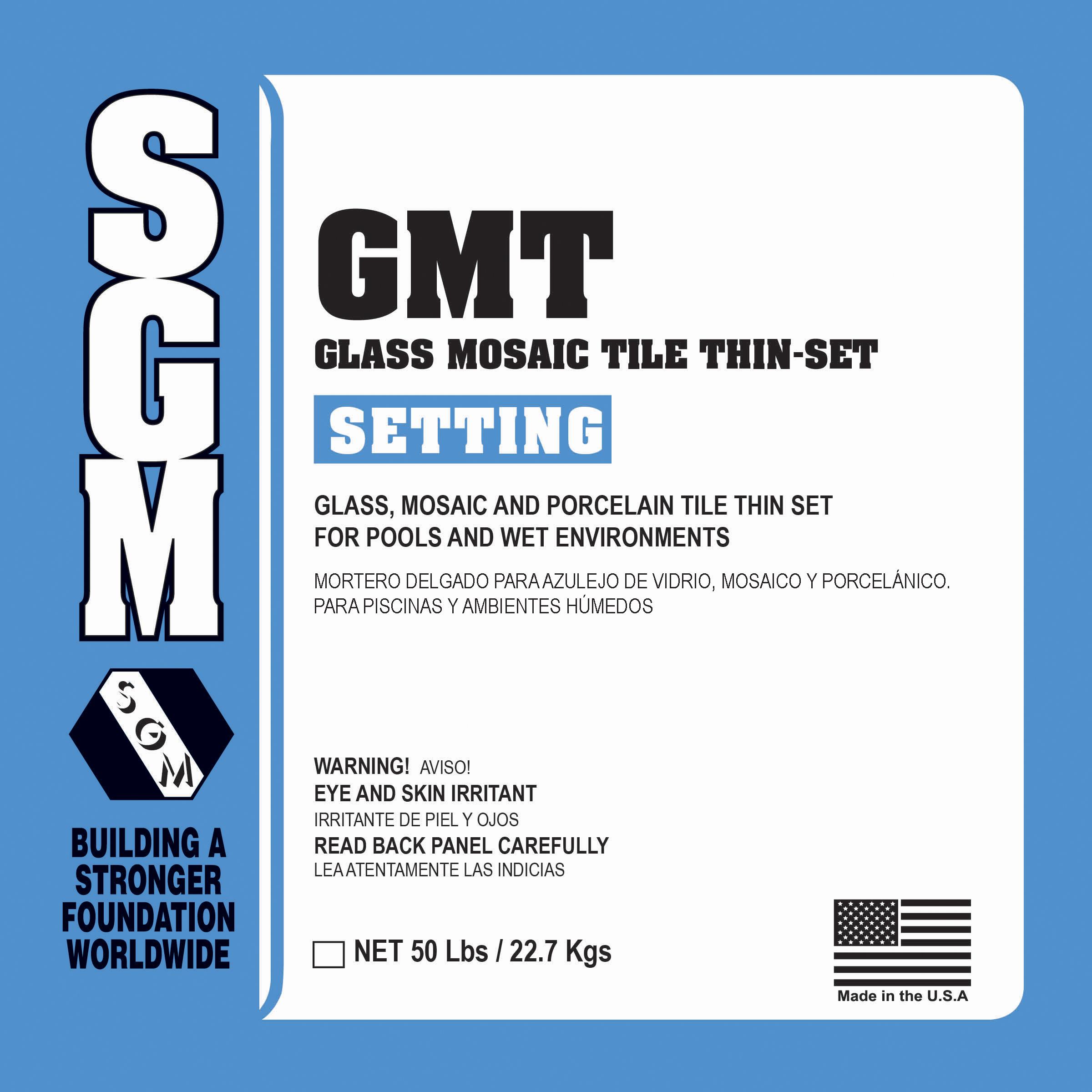 glass mosaic tile gmt thin set mortar