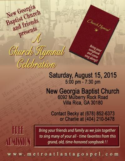 A Church Hymnal Celebration