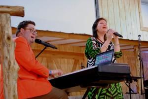 Matt Jones and Lisa Dye at the Denton Gospelfest.