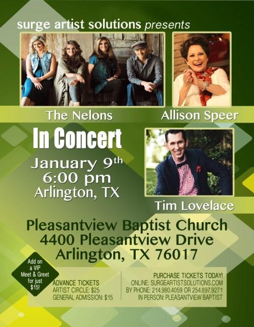 The Nelons, Allison Speer & Tim Lovelace in Concert