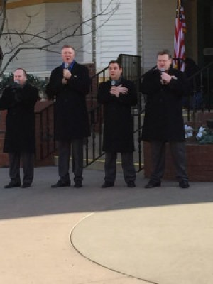 Kingdom Heirs outside at Dollywood
