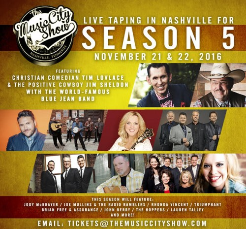 The Music City Show Announces SEASON 5 Live Tapings in Nashville, TN!