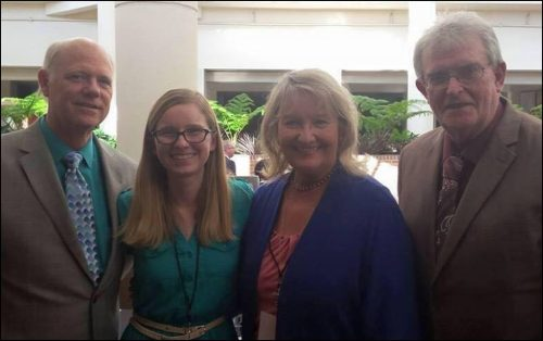 WLOSGMH Facebook Administrators (l to R) John Crenshaw, Hannah Kennedy, Ann   Downing, Harold Timmons