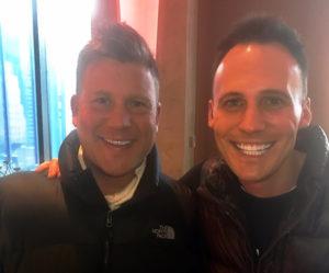 Joseph Habedank with Hope Dealer's Kyle Michael Miller.