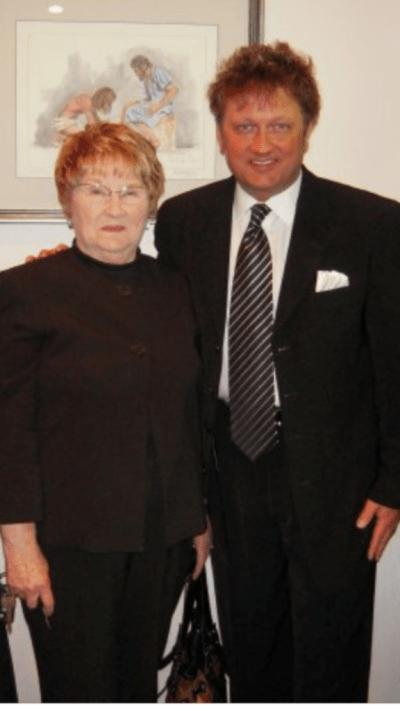 David Staton and his mom