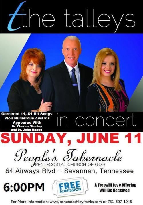 Talleys In Concert June 11th