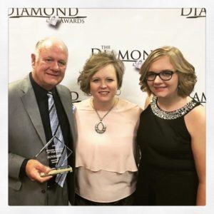 The Williamsons with 2017 Diamond Award